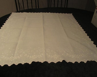 antique tablecloth, handworked      just reduced