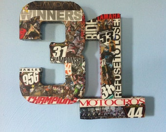 Dirtbike numbers/name wall decor