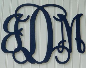 """Wall Monogram - Painted Letters - 12"""" x 16"""" - Personalized Letters - Wall Decor - Childrens Room - Wreathe Decor - Gift"""
