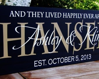 Personalized Wedding Signs Family name signs Custom Wooden signs last name sign Custom wedding gift Established family sign Plaque