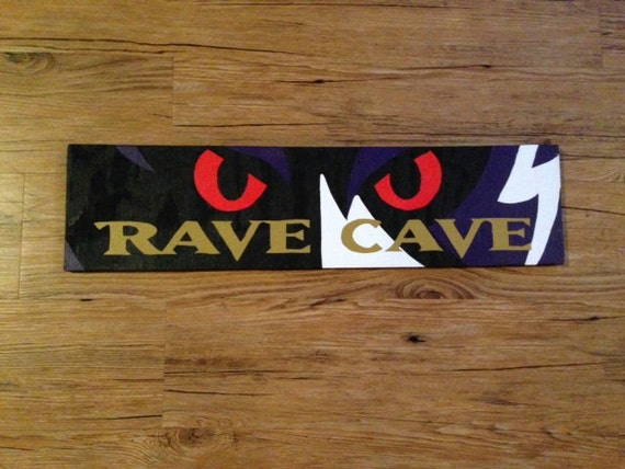Man Cave Store Baltimore : Baltimore ravens rave cave sign by bksquareddesigns on etsy