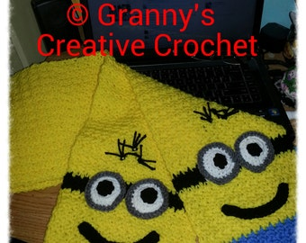 Minion Scarf Neckwarmer, Made to Order, Handmade Crocheted