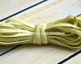 pale yellow skinny elastic by the yard