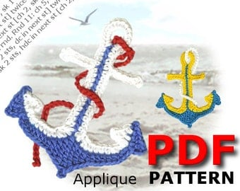 Crochet | Crochet pattern | Applique pattern | Crochet ANCHOR