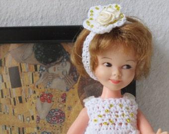 1/8 Scale Doll Dress and Headwear Crochet OOAK