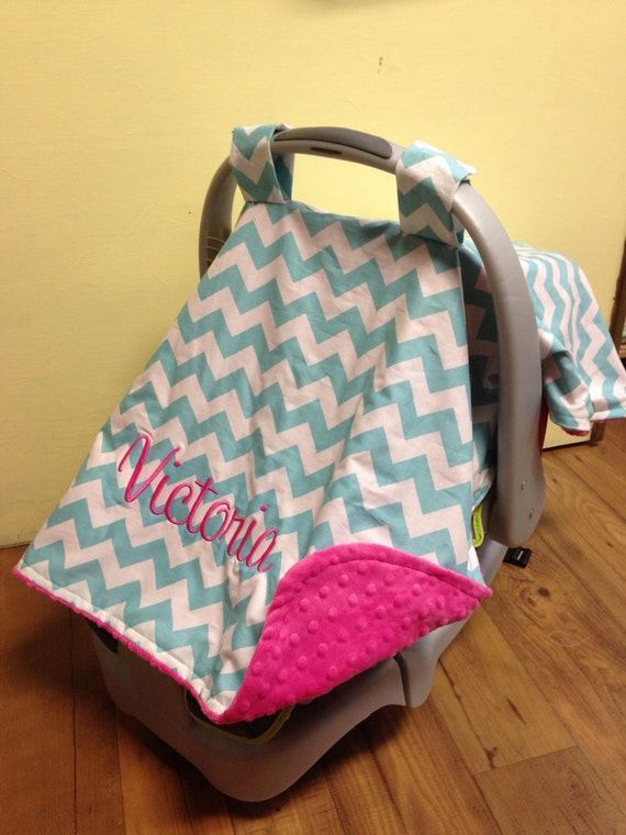Monogram Carseat Canopy Boy Or Girl Personalized Carrier