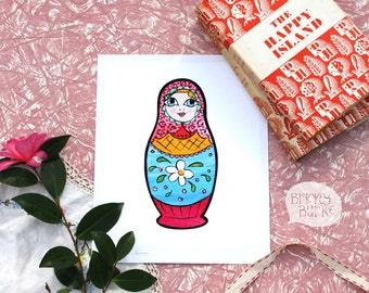 Summer Russian Doll Wall Art