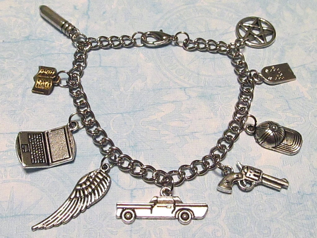 supernatural charm bracelet dean sam cas by