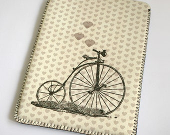Bicycle with heart - iPad Case - iPad Sleeve - iPad Cover