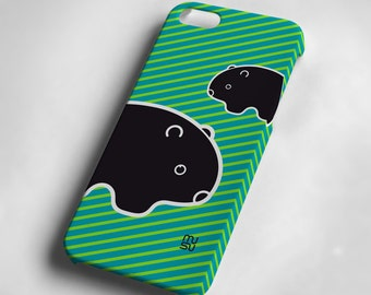 Wombat (blue) - iPhone 5 Case - iPhone 5 Cover - Plastic IP5 Case
