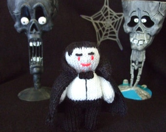 knitted vampire toy