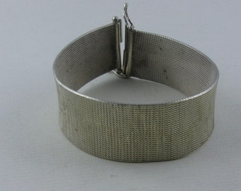 Noble, casual-elegant snake bracelet in sterling silver (Ag 925). VINTAGE silver TREASURE