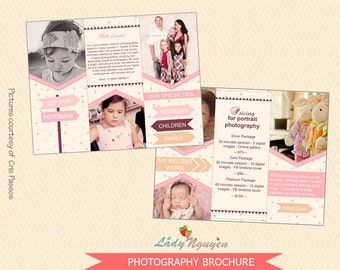 INSTANT DOWNLOAD 8.5x11 Photography Trifold Brochure - M5
