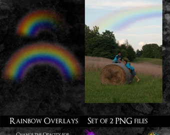 Photography or Scrapbooking Rainbow Overlays
