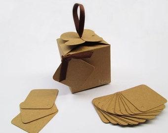 Bulk Small Kraft Box, Gift Box Set of 100