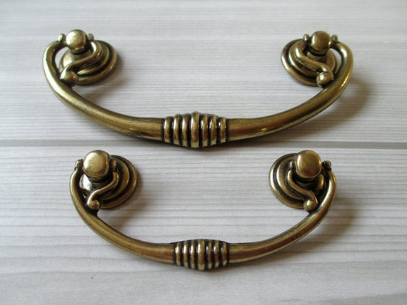 2 5 bail vintage style dresser pulls cabinet by for Furniture bail pulls