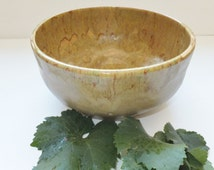 Large Ocher Ceramic Salad Bowl, Wild Crow Farm Pottery, Minimalist Pottery