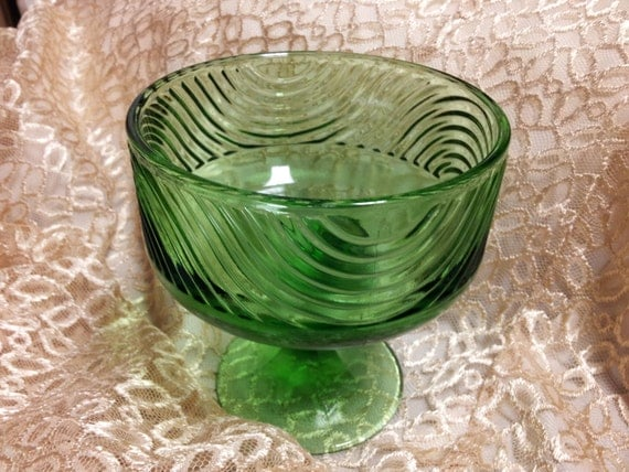 Eo Brody Co Green Glass Compote Candy Footed By Barbsburnttree