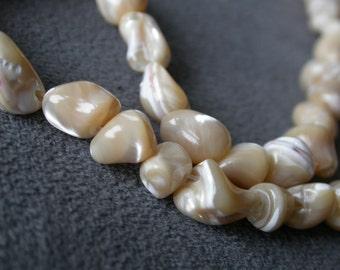 full strand 48pcs Nature color Shell 8-14mm irregular Gemstone beads B12