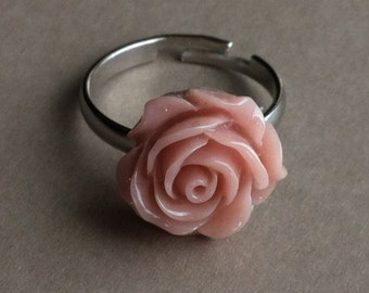 Dusky Pink Rose Ring