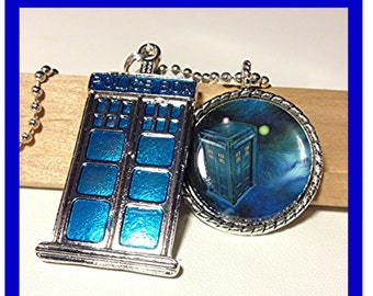 Doctor Who Tardis Fandom pendant necklace