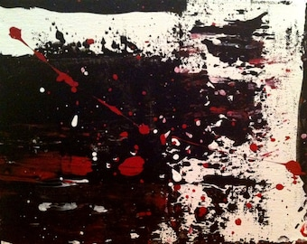 """Art Original Abstract Painting """" Untitled 6 """" Painting. 8 x 10 on Canvas"""