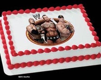 Edible Cake Images Wwe : Popular items for WWE Superstar on Etsy