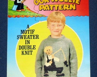 Oor Wullie childrens sweater pattern