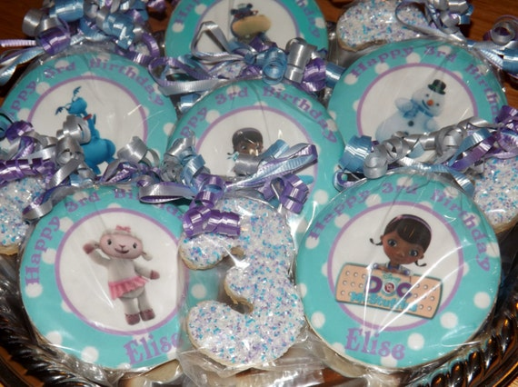Custom Disney Doc McStuffins Birthday Cookie Favors