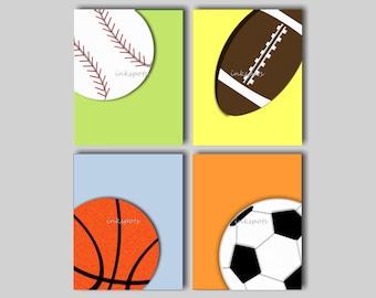 Sports Nursery Art, Sports Wall Art, Sports Prints, Sports Nursery Art, Baseball Wall Art, Football Art, Basketball Art Choose Colors SP1910
