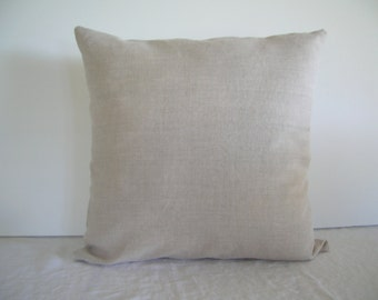 Natural Linen 18x18 Pillow Cover