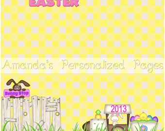 12x12 1-page Personalized Easter Scrapbook  Paper (Delicious Easter))