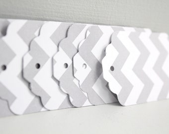 50 Grey chevron tags,grey gift tags,chevron gift tags,wedding favor tags,shower favor tags,grey chevron paper tags,gray chevron striped tags
