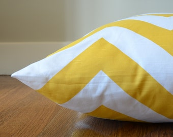 "SALE! Chevron Dog Bed Cover, Yellow Modern Pet Bed (25 x 35"")"