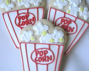Popcorn Box cookies, movie night cookies