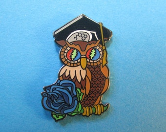 Gratefully Wise Owl 2.0 Grateful Dead pin