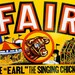 County FAIR, See Earl the Singing Chicken Letterpress Poster