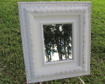 shabby chic mirror, white mirror, mirror, large mirror, ornate mirror,vintage mirror,beveled glass