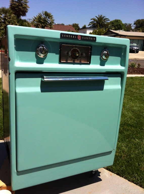 Vintage General Electric Wall Ovens ~ Clearance vintage mint green aqua enamel general electric wall