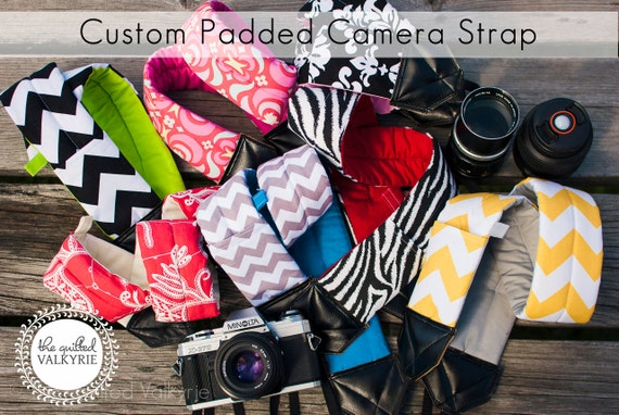 DSLR SLR Padded Camera Strap - Custom Order