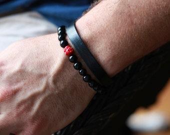 Mens Buddha Bracelet - Buddha Bracelet - Mens Black Onyx Stone Buddha Bracelet