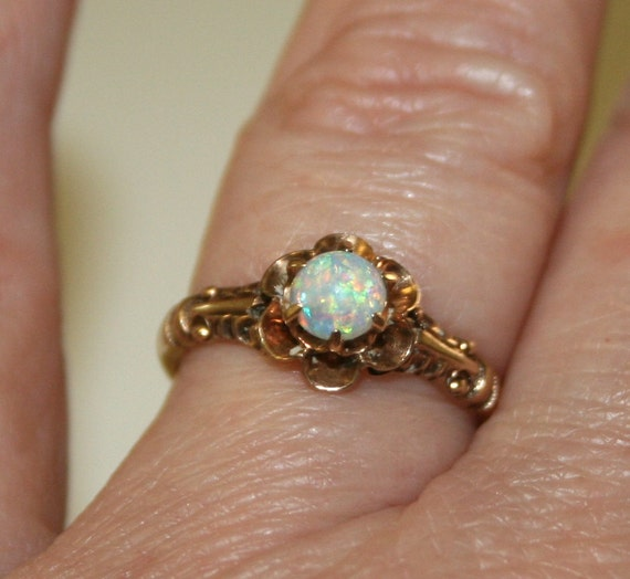 Opal Engagement Rings: Vintage Opal And Gold Ring Antique Opal Ring Vintage