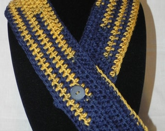 College Football Navy and Gold Cowl Neckwarmer