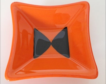 Orange Fused Glass Dish