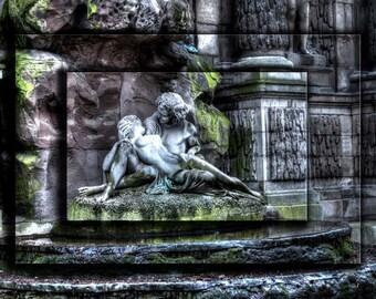 Paris Photography, Paris Photo, Paris Landmark, Medici Fountain Paris, Romantic Photo, Paris Fountain, Paris Art, Paris Image, Paris Print