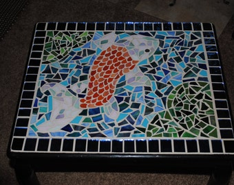 Mosaic koi etsy for Koi fish pool table