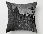 """Throw Pillow Cover (18"""" x 18"""") , Winter Spirit Photography, Gothic Fantasy Surreal Art Inspiration"""