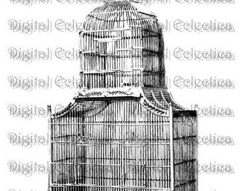 Antique Birdcage Engraving. Birdcage PNG. Birdcage Prints. Birdcage Images. Birdcage Pictures. Birdcage Clipart. Vintage Birdcage. No. 0067.