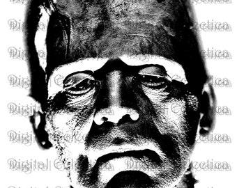 Frankenstein Halloween Monster. Frankenstein PNG. Halloween PNG. Halloween Monster Print. Frankenstein Image. Frankenstein Picture. No. 0078