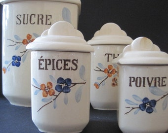 French Canisters - Set of 4